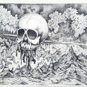 Untitled Skull Landscape (2017)